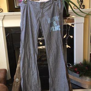 Wrinkled but Clean! PINK Victorias Secret PJ pants